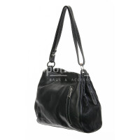 Borsa donna in vera pelle, DELIA REI, mod ANGELINA colore nero, Made in Italy.
