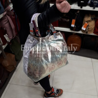 ILENIA: borsa donna in pelle morbida, a mano , a spalla, a tracolla, colore : MULTICOLOR, Made in Italy