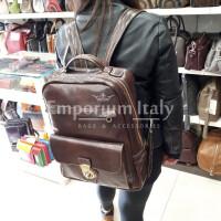 MONTE DENALI: zaino uomo / donna, in cuoio, colore : TESTAMORO, Made in Italy