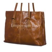 Borsa donna in vera pelle RINO DOLFI mod. MINA small colore MIELE Made in Italy