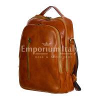 Monte KILIMANGIARO : borsa-zaino uomo / donna in cuoio, colore: MIELE, EMPORIUM ITALY, Made in Italy