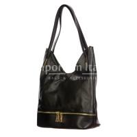 LUISA : borsa donna a spalla, pelle morbida, colore : NERO, Made in Italy