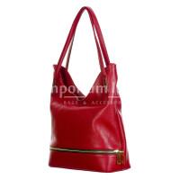 LUISA : borsa donna a spalla, pelle morbida, colore : ROSSO, Made in Italy