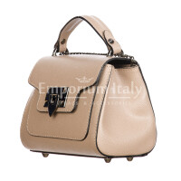 AGNES : borsa donna mini, pelle saffiano, colore : ROSA, Made in Italy