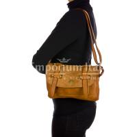 VELIA : borsa donna, pelle invecchiata / vintage, colore : MARRONE, Made in Italy