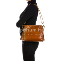 ORNELLA MINIi: ladies shoulder bag in buffered leather, color : HONEY, Made in Italy