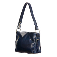 ORNELLA MINIi: ladies shoulder bag in buffered leather, color : BLUE, Made in Italy
