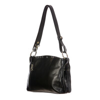 ORNELLA MINIi: ladies shoulder bag in buffered leather, color : BLACK, Made in Italy