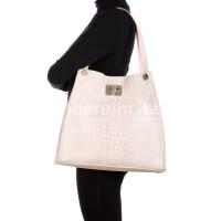 CORINNE: borsa donna a spalla, semirigida, pelle morbida, colore: ROSA, Made in Italy