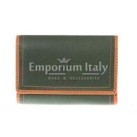 Portafoglio donna in vera pelle nubuck HARVEY MILLER mod GIACINTA colore VERDE Made in Italy.