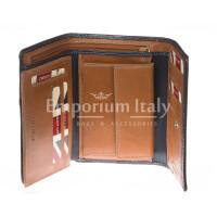Portafoglio donna in vera pelle nubuck HARVEY MILLER mod GIACINTA colore MIELE Made in Italy.