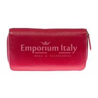 Portafoglio donna in vera pelle tradizionale SANTINI mod CAMOMILLA colore ROSSO Made in Italy.