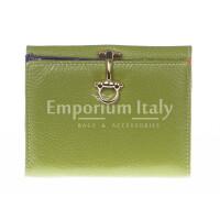 Portafoglio in vera pelle da donna MIMOSA, colore VERDE, SANTINI, MADE IN ITALY