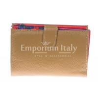 Кошелёк женский из натуральной традиционной кожи SANTINI мод. NINFEA, цвет МЕДОВЫЙ, производство Италия.