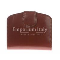 Portafoglio donna in vera pelle tradizionale SANTINI mod ANGELICA colore MARRONE Made in Italy.