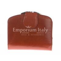 Portafoglio donna in vera pelle tradizionale SANTINI mod ANGELICA colore MIELE Made in Italy.