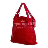VANDA: borsa donna a spalla , pelle morbida, vitage, colore: ROSSO, Made in Italy