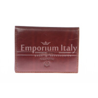 Porta tessere - carte di credito uomo / donna in vera pelle tradizionale SANTINI, mod SVEZIA, colore MARRONE, Made in Italy.