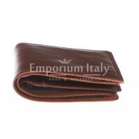 Portafoglio uomo in vera pelle tradizionale SANTINI, mod PANAMA, colore MARRONE, Made in Italy.