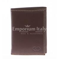 Portafoglio uomo in vera pelle sauvage EMPORIO TITANO, mod AUSTRALIA, colore MARRONE, Made in Italy.
