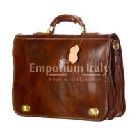 GIORGIO: cartella/borsa ufficio uomo, in cuoio, colore: MARRONE, Made in Italy