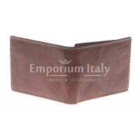 Portafoglio uomo in vera pelle sauvage SANTINI, mod LUSSEMBURGO maxi, colore MARRONE Made in Italy.