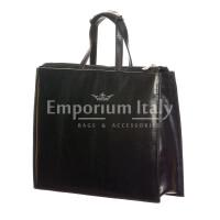 ERMETE : cartella ufficio / borsa lavoro, uomo - donna, in cuoio, colore : NERO, Made in Italy