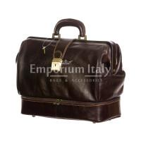 Borsa dottore/ventiquattrore in vera pelle LEONIO, unisex, colore TESTA MORO, RINO DOLFI, MADE IN ITALY