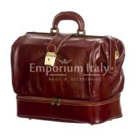 Borsa dottore/ventiquattrore in vera pelle LEONIO, unisex, colore MARRONE, RINO DOLFI, MADE IN ITALY