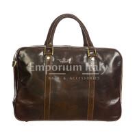 MURES : cartella ufficio / borsa lavoro, uomo - donna, in cuoio, colore: TESTA MORO, Made in Italy.