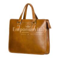 MORENO : cartella ufficio / portadocumenti, uomo - donna, in cuoio, colore : MARRONE, Made in Italy