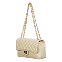 Borsa a spalla da donna in vera pelle CHARLOTTE MEDIUM, colore PANNA, DELIA REI, MADE IN ITALY