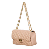 Borsa a spalla da donna in vera pelle CHARLOTTE MEDIUM, colore ROSA, DELIA REI, MADE IN ITALY