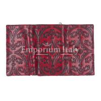 CAMELIA : portafoglio donna in cuoio, colore : ROSSO, Made in Italy