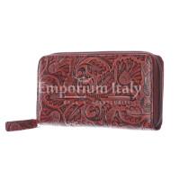 AZALEA : portafoglio donna in cuoio, colore : MARRONE, Made in Italy