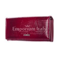 DAFNE : portafoglio donna pelle laccata, colore : ROSSO, Made in Italy