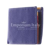 SLOVACCHIA MINI: portafoglio uomo, medio-piccolo, colore: BLU / MULTICOLOR, Made in Italy
