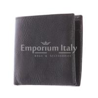 TRENTO: portafoglio uomo, in cuoio italiano, colore: TESTA MORO, Made in Italy