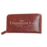 PARAGUAY: maxi portafoglio uomo in cuoio, colore: MARRONE CHIARO, Made in Italy