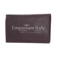 CONGO: maxi portafoglio uomo in cuoio, colore: TESTA MORO, Made in Italy