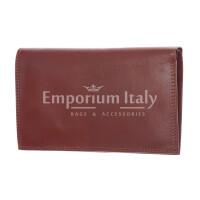 CONGO: maxi portafoglio uomo in cuoio, colore: MARRONE, Made in Italy