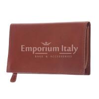 BARBADOS: maxi portafogli0 uomo in cuoio a bottone, colore: MARRONE, Made in Italy