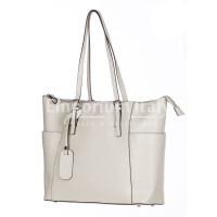 Rigid saffiano leather shoulder bag for woman, AMBRA, BEIGE, SANTINI, MADE IN ITALY