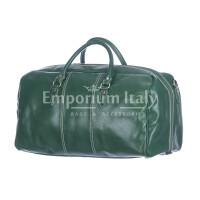 Borsone viaggio NILO MAXI in vera pelle colore VERDE, RINO DOLFI, Made in Italy