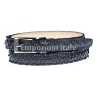 Cintura donna AMALFI vera pelle pitone certificato CITES, colore NERO, RINO DOLFI, Made in Italy