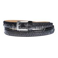Cintura uomo/donna AMALFI vera pelle pitone certificato CITES, colore TESTA MORO, RINO DOLFI, Made in Italy