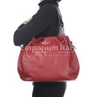Borsa donna in vera pelle ADELINA, colore ROSSO,CHIARO SCURO, MADE IN ITALY