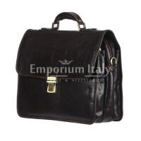 Borsa ufficio da uomo in vera pelle STEFANO, colore NERO, RINO DOLFI, MADE IN ITALY