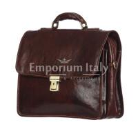 Borsa ufficio da uomo in vera pelle STEFANO, colore TESTA DI MORO, RINO DOLFI, MADE IN ITALY