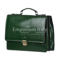 Borsa ufficio da uomo in vera pelle GABRIELE, colore VERDE, MAESTRI, MADE IN ITALY